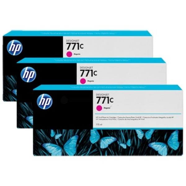 Cartus cerneala Original HP Magenta 771C 3-pack, compatibil DesignJet Z6200, 775ml  0