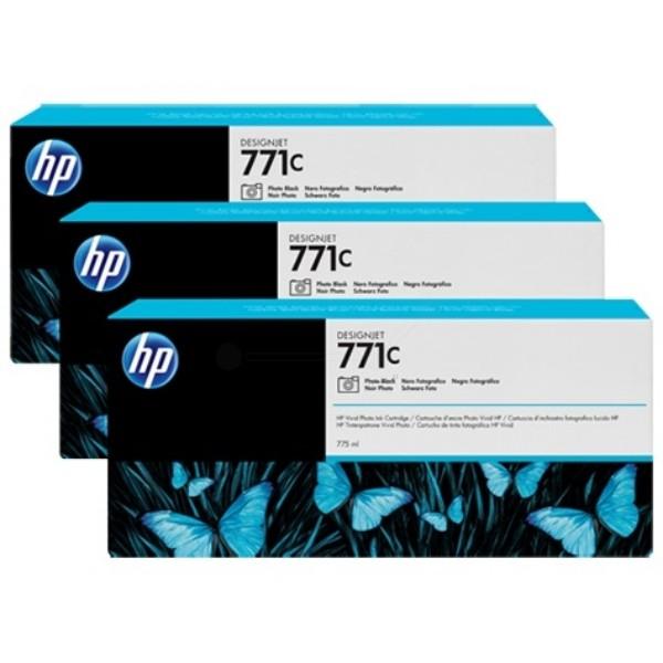 Cartus cerneala Original HP Black Photo 771C 3-pack, compatibil DesignJet Z6200, 775ml  [0]