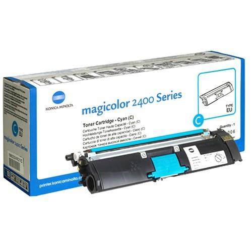 Toner Original pentru Konica-Minolta Cyan, compatibil MagiColor 2400/2430/2450/2500/2530/2550/2480/2490, 1500pag  0
