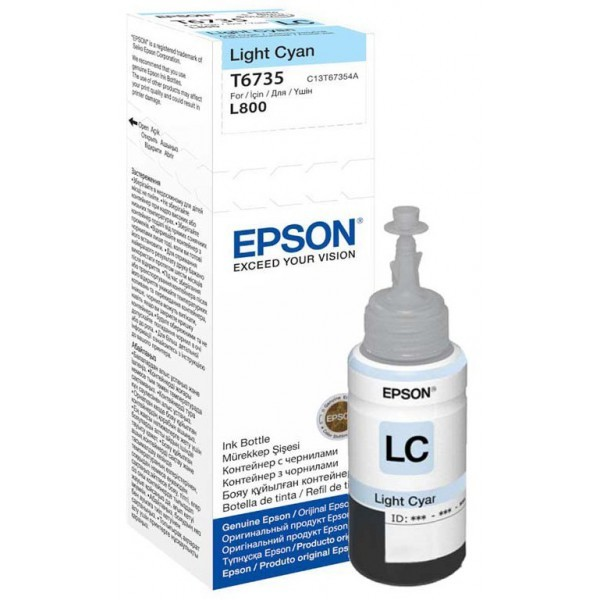 Cartus cerneala  Original Epson Cyan T6735  compatibil L800  0