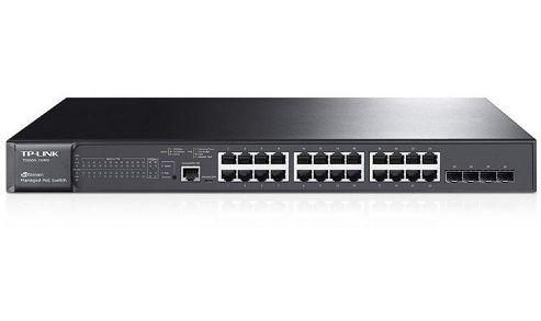 "Switch L2 cu management 24 Porturi 10/100/1000M + 4 sloturi SFP, 802.3at/af-compliant POE+, TP-LINK ""TL-SG3424P"" (include timbru verde 0.5 leu) 0"