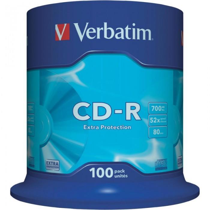 CD-R Verbatim DATALIFE 52X 700MB 100PK SPINDLE  0