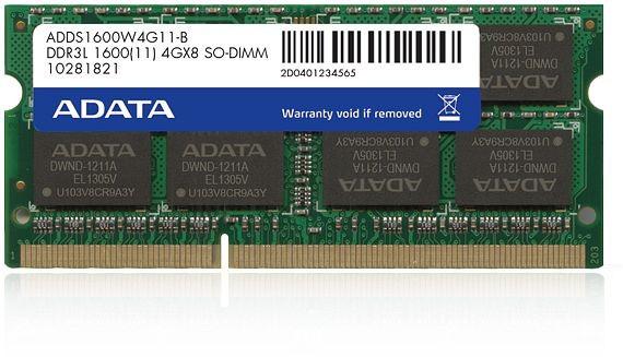 SODIMM LOW VOLTAGE ADATA  DDR3/1600 4096M   0