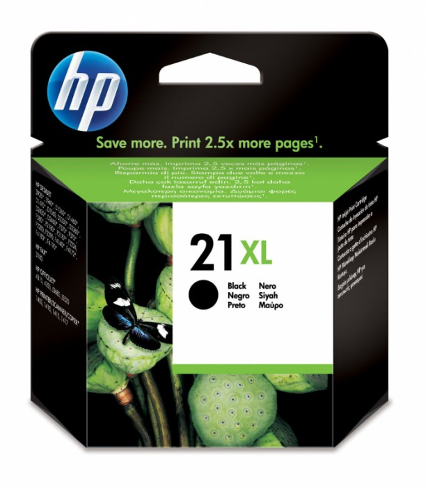 Cartus cerneala Original HP Black 21XL, compatibil DJ3920/3940/D1360/1560/F380/43xx/5610/PSC1402/1410, 12ml  [0]