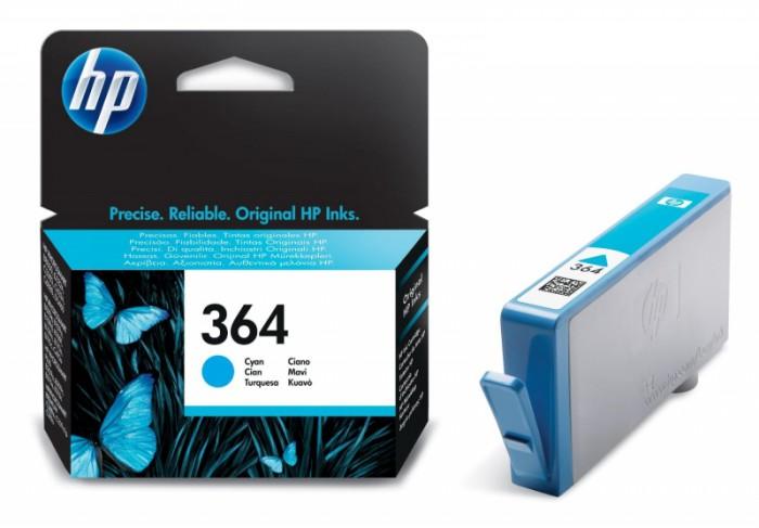 Cartus cerneala Original HP Cyan 364 w.Vivera ink, compatibil PhotoSmart 7510/C5380/6380/D5460/7560, 300pag  [0]