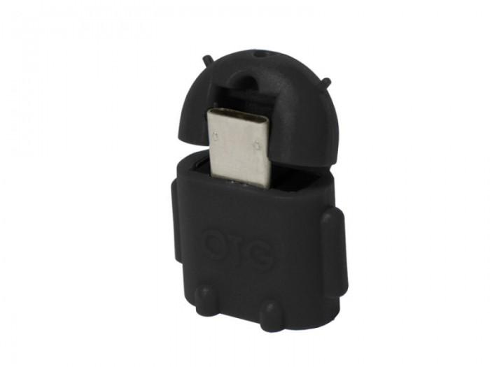 Adaptor OTG micro-USB la USB, (T/M), black, Logilink  0