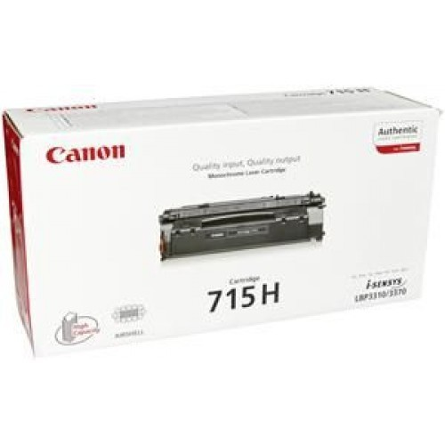 Toner Original pentru Canon Negru CRG-715H, compatibil LBP3310/3370, 7000pag  0