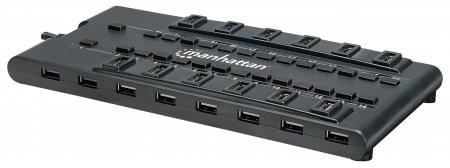 Hub USB 28 PORTURI, AC Power, Mondo Design, 4 Ports USB 3.0 + 24 Ports USB 2.0, Retail Box  0