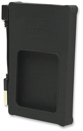 "RACK EXTERN  2.5"" SATA HDD, Black Silicone, 1x Hi-Speed USB 2.0 Port, Blister  0"