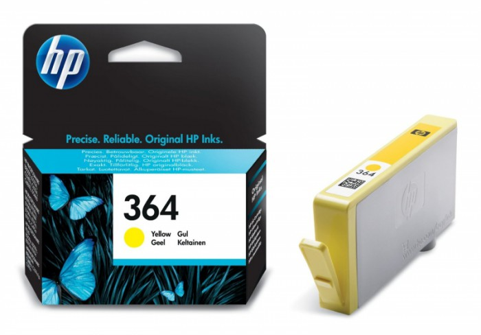 Cartus cerneala Original HP Yellow 364 w.Vivera ink, compatibil PhotoSmart 7510/C5380/6380/D5460/7560, 300pag  [0]