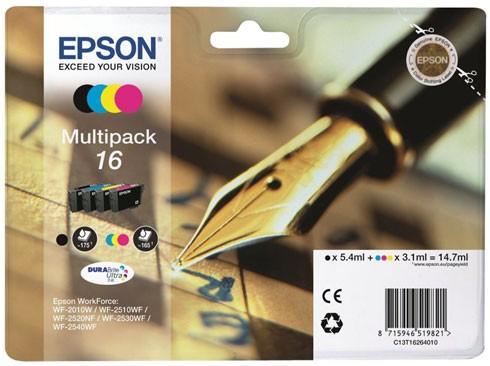 Cartus cerneala  Original Epson Color Multipack 16, compatibil  WF2540  [0]