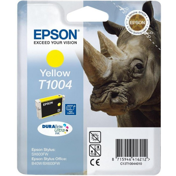 Cartus cerneala  Original Epson Yellow T10044010  compatibil  B40W/BX600/610FW   [0]