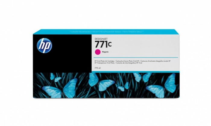 Cartus cerneala Original HP Magenta 771C, compatibil DesignJet Z6200, 775ml  0