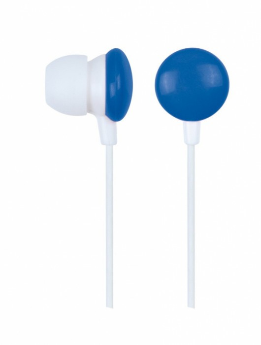 Casti stereo Gembird, intraauriculare, lungime fir 0.9m, conector jack 3.5mm, Blue/White  0