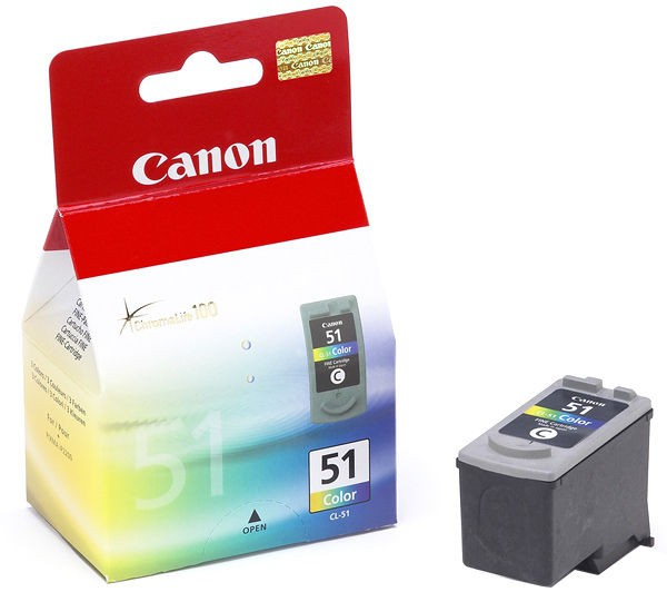 Cartus cerneala Original Canon CL-51,  Color, compatibil IP2200/MP150/MP160/MP170/MP180, 3 x 7 ml  0