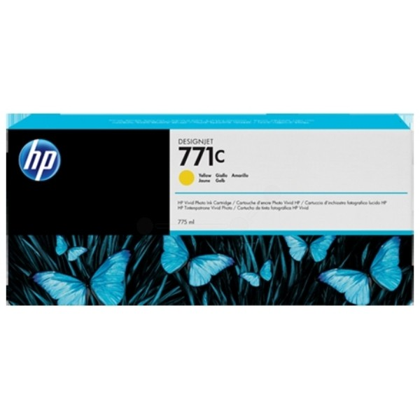 Cartus cerneala Original HP Yellow 771C, compatibil DesignJet Z6200, 775ml  0