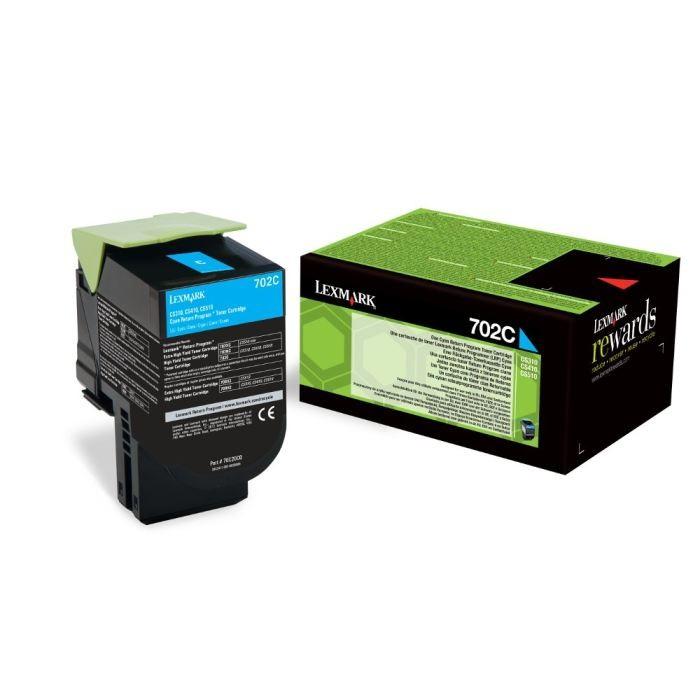 Toner Original pentru Lexmark Cyan 702C, compatibil CS310/410/510, 1000pag  0