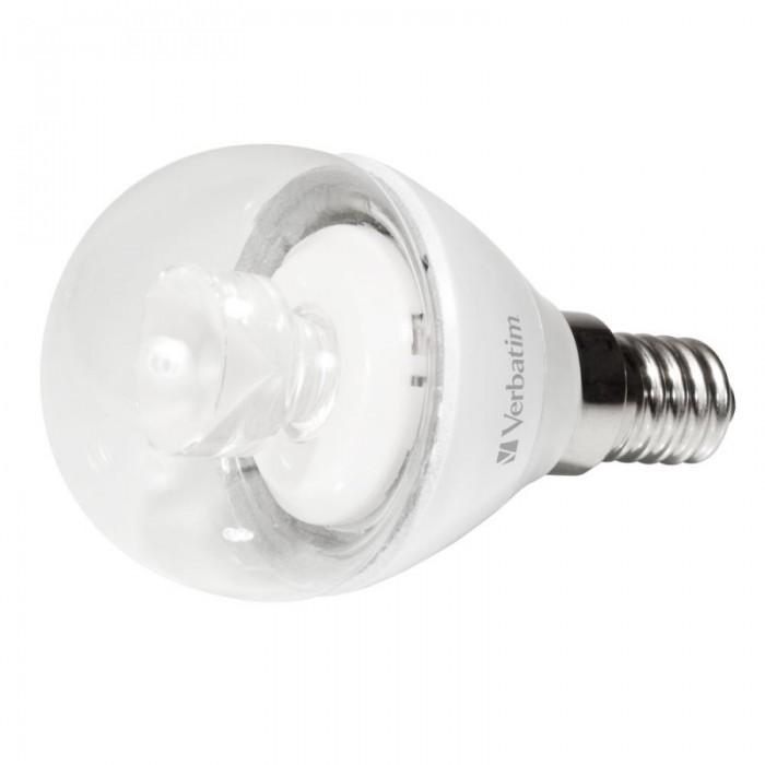BEC LED Verbatim E14 4.5W 2700K Warm White 250LM trasparent, mini glob  0