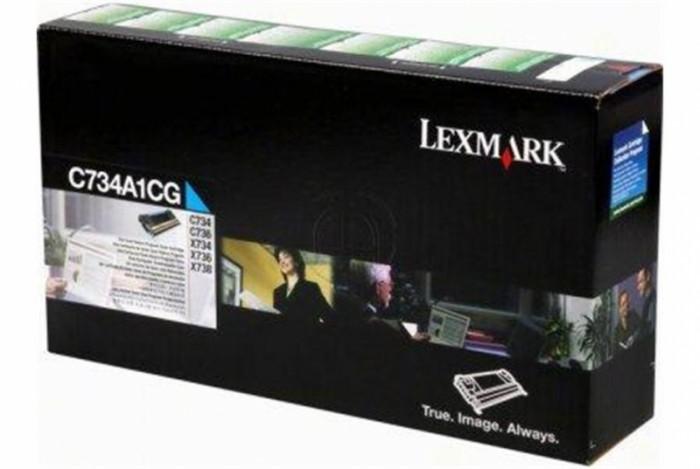 Toner Original pentru Lexmark Cyan, compatibil C734/736/X734/738, 6000pag  0