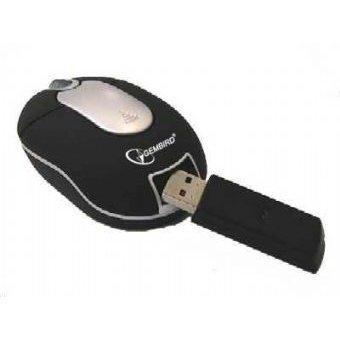 Mouse optic USB GEMBIRD  RADIO Mini, wireless cu 3 butoane si 1 rotita scroll, rezolutie de 800dpi, design ergonomic, Negru-argintiu 0