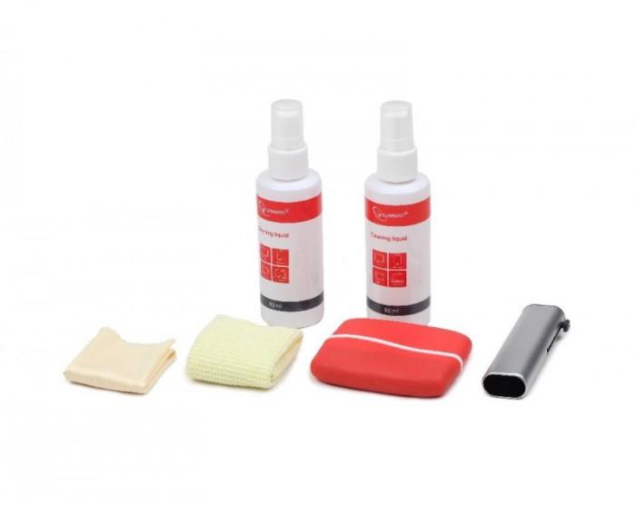 Kit curatare LCD 6-in-1 - 2 solutii curatare, 2 pensule, 2 servetel microfibra, Gembird  [0]