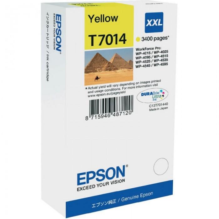 Cartus cerneala  Original Epson Yellow C13T70144010 compatibil WP4000/4500 Series  XXL  34k  [0]