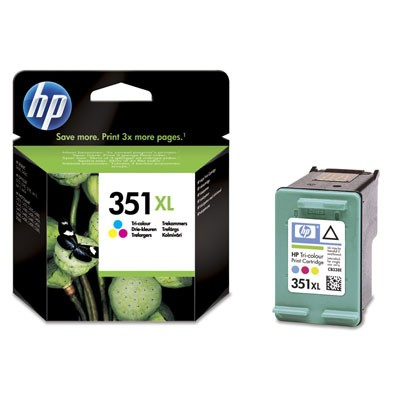 Cartus cerneala Original HP Tri-color 351XL w.Vivera ink, compatibil DJ D4260/4360/J5730/5780/6480/PS C4205/4272/4280/4480/5280, 14ml  [0]