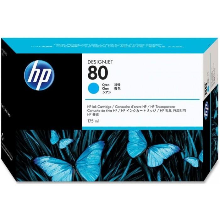 Cartus cerneala Original HP Cyan 80, compatibil DesignJet 1050/1055, 175ml,  [0]