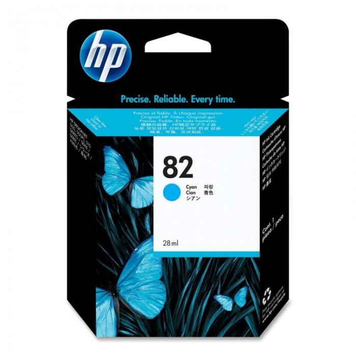 Cartus cerneala Original HP Cyan 82, compatibil DesignJet 111, 28ml  [0]