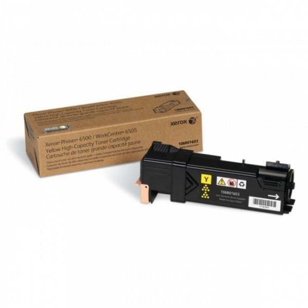 Toner Original pentru Xerox Yellow, compatibil Phaser 6500/6505, 2500pag  0