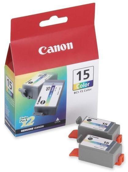 Cartus cerneala Original Canon BCI-15C Color, compatibil I70 / 2 pack  0