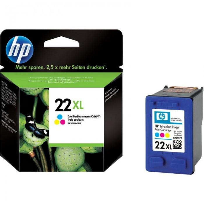 Cartus cerneala Original HP Tri-color 22XL, compatibil DJ3920/3940/D1360/14xx/F2180/2280/PSC1402/1410, 12ml, 138pag  [0]