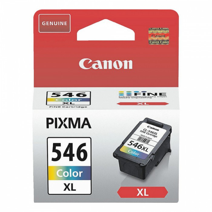 Cartus cerneala Original Canon CL-546XL Color, compatibil MG2450/MG2550  0