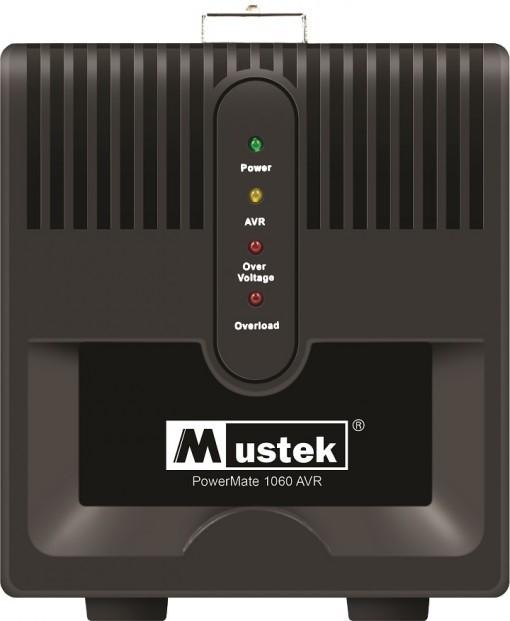 AVR MUSTEK PowerMate 1060 (1000VA), Schuko - Voltage regulating  0