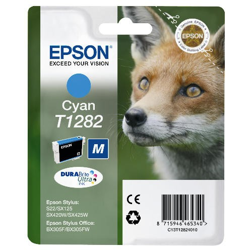 Cartus cerneala  Original Epson Cyan T12824010  compatibil  S22/SX125   [0]