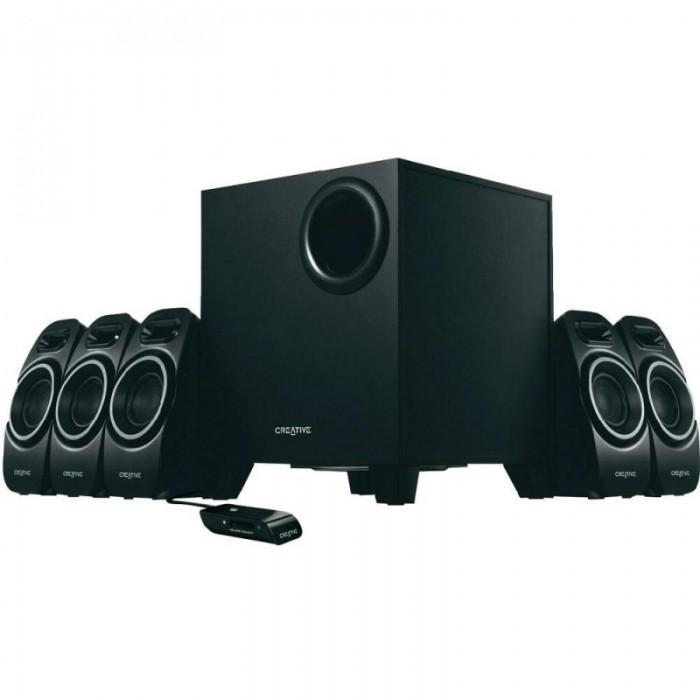 BOXE CREATIVE 5.1  Inspire A550 black, RMS: subwoofer 12W, 5 channels*5W  0