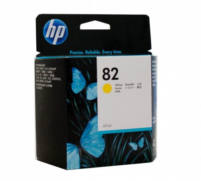 Cartus cerneala Original HP Yellow 82, compatibil DesignJet 500/800, 69ml  [0]