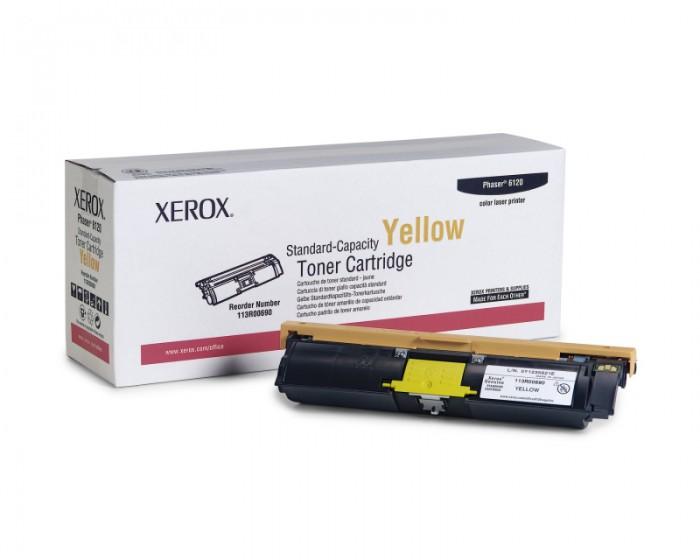 Toner Original pentru Xerox Yellow, compatibil Phaser 6120/6115MFP, 1500pag  0