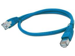 FTP Cat5e Patch cord, blue, 2 m  0