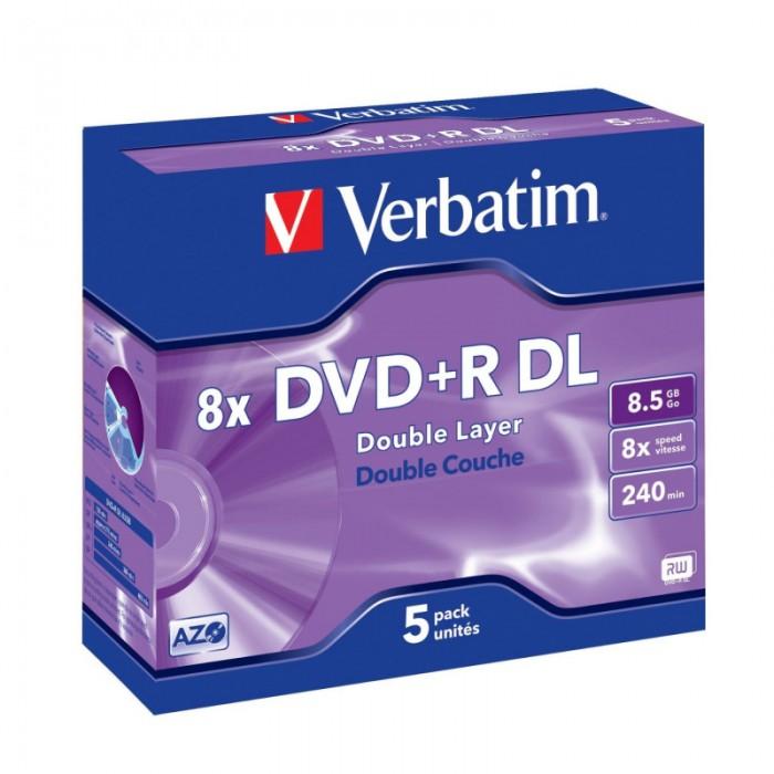 DVD+R Verbatim DL 8X 8.5GB 5PK JC MATT SILVER  [0]