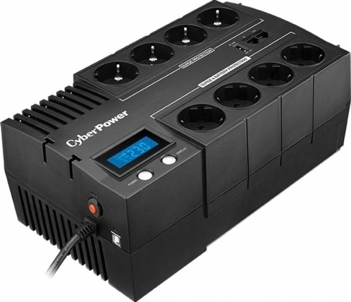 UPS  CYBER POWER Brick series II Green Power 600W (1000VA) Line Interactive, AVR, LCD, USB Charger Port (+5VDC), Schuko  0