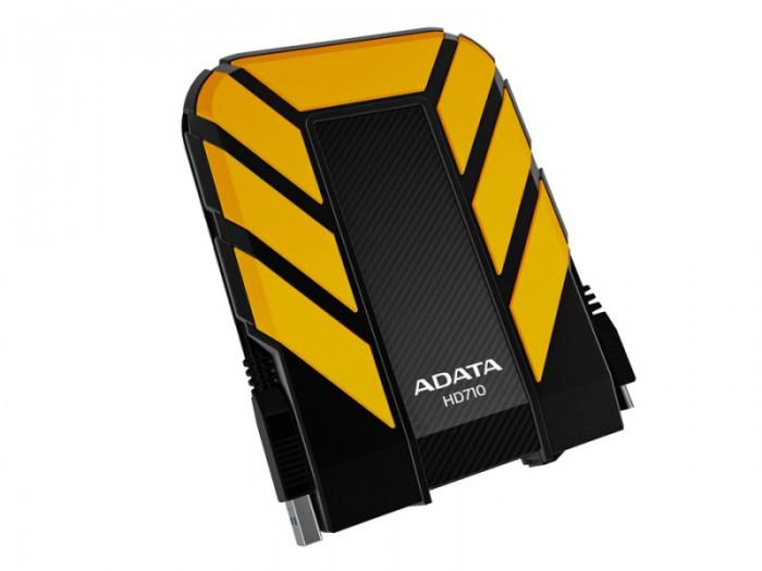 """HDD Extern ADATA HD710 1TB, 2.5"""", USB 3.0, rezistent la apa si socuri, Black/Yellow  0"""