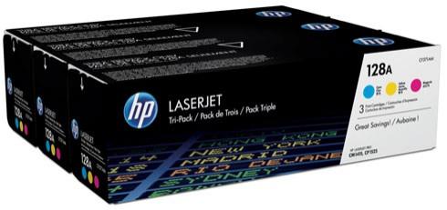 Toner Original pentru HP Color Tri-Pack 128A Cyan/Magenta/Yellow, compatibil CM1415/CP1525N, 3x1500pag  0