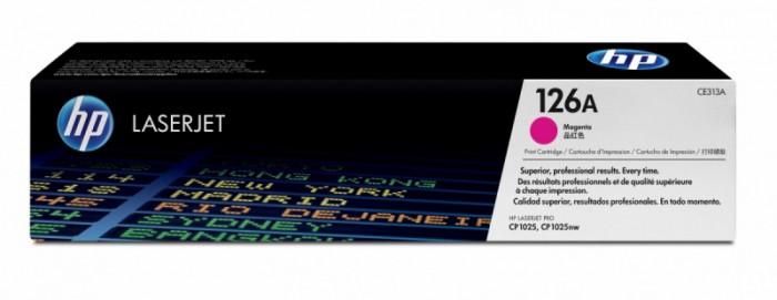Toner Original pentru HP Magenta, compatibil CP1025/M175 126A, 1000pag  [0]