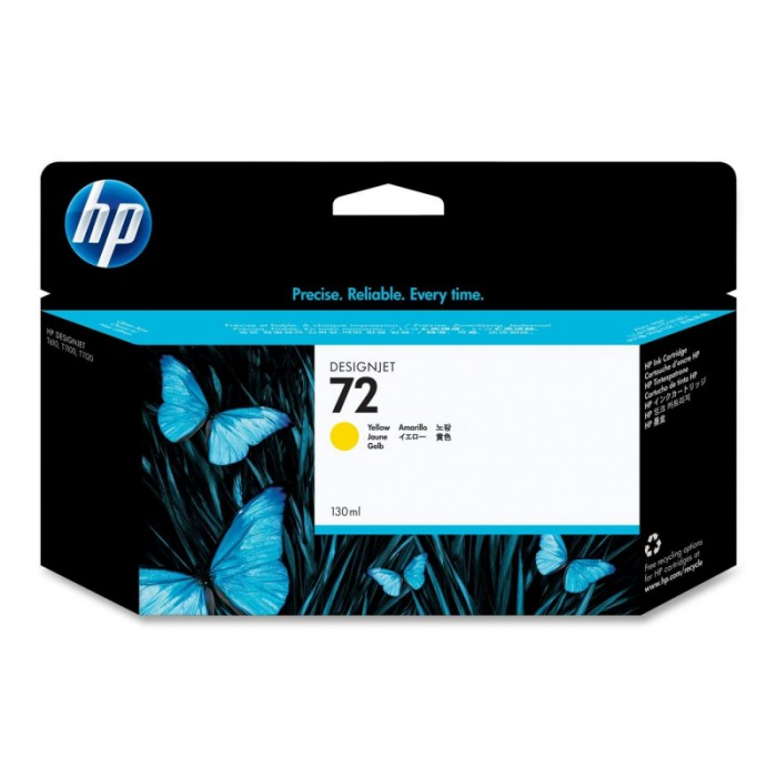 Cartus cerneala Original HP Yelllow 72 w.Vivera ink, compatibil DesignJet T1100/1120/1200/1300/2300/T610/620/770/790, 130ml  [0]