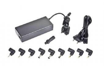 Alimentator Notebook Universal, tensiune intrare 100-240V 50-60 Hz si iesire: 15V-20 V max.4.5A, putere 90W, protectie supraincarcare si scurt-circuit, lungime cablu: 1.2m, Negru, GEMBIRD 0