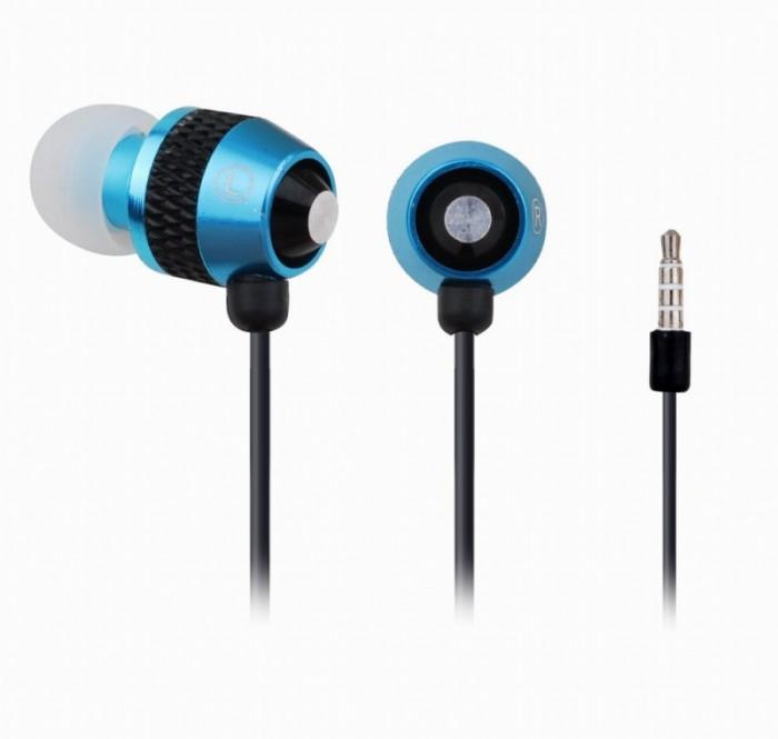 Casti stereo cu microfon Gembird, intraauriculare, control volum pe cablu, lungime fir 0.9m, connector jack 3.5mm  0