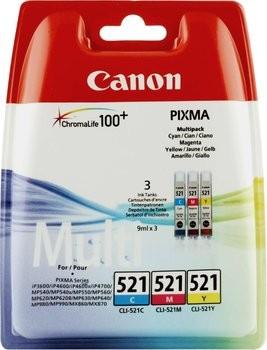 Cartus cerneala Original Canon CLI-521MULTI Color, compatibil iP4600/iP4700  0