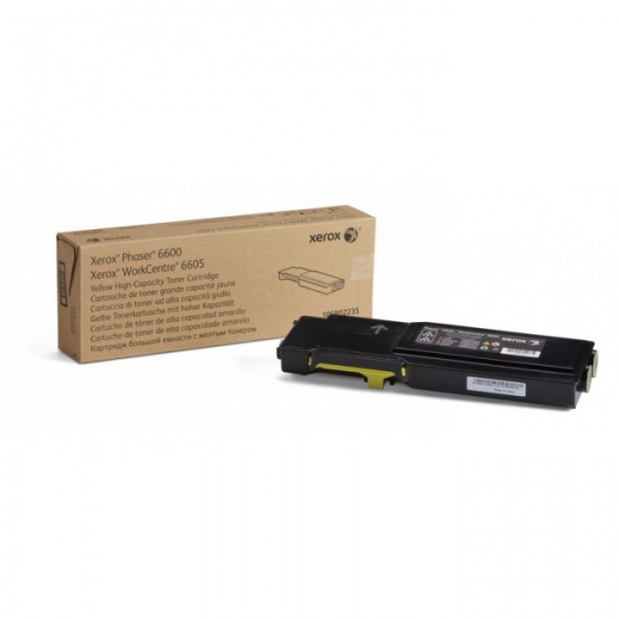 Toner Original pentru Xerox Yellow, compatibil Phaser 6600/WC6605, 6000pag  0