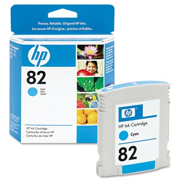 Cartus cerneala Original HP Cyan 82, compatibil DesignJet 500/800, 69ml,  [0]